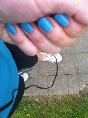 Met assortie nagellak, very fancy!